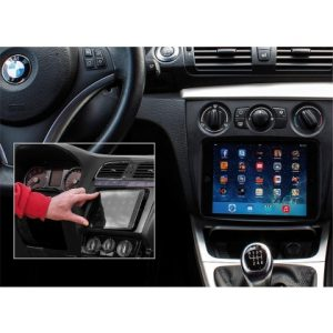 iPad-mini-Halterung-BMW-1er-E87-E81-E82-E88-ab-2007-FL-mit-manueller-Klimaanlage